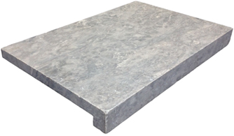 Grey Sky Limestone 600 x 400 x 30/60mm Drop Nose - NO holes unlike silver travertine