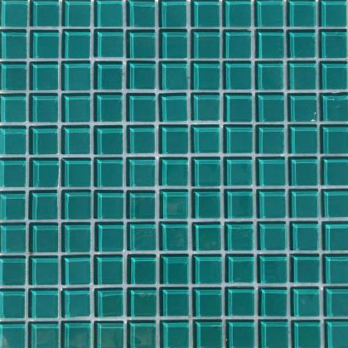 Waterline Tile (Mosaic) - New Dark Aqua Green (25 x 25mm)