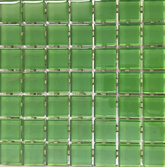 Waterline Tile (Mosaic) - Emerald (23 x 23mm)