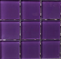 Waterline Tile (Mosaic) - Magic Purple (48 x 48mm)