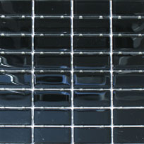 Waterline Tile (Mosaic) - Onyx Black