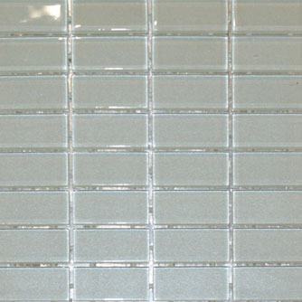 Waterline Tile (Mosaic) - Royal White (23 x 48mm)