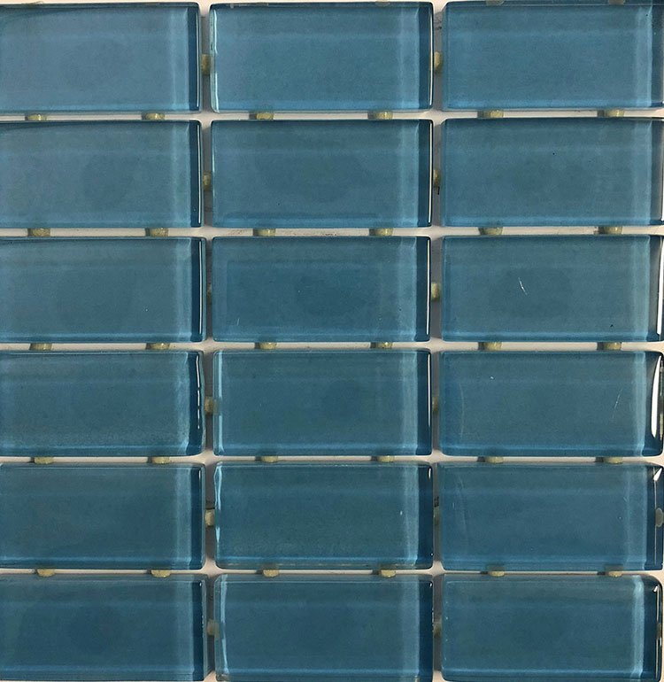 Waterline Tile (Mosaic) - Sky Blue (23 x 48mm)